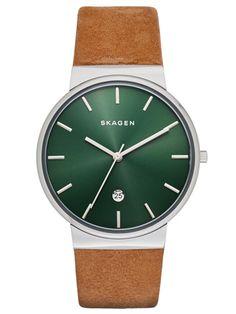 SKAGEN ANCHER | SKW6183 Saddle Leather, Skagen, Rolex Watches, Cool Watches, Watches For Men, Brown Leather Strap Watch, Mens Watches Leather, Men's Leather, Jewelry Watches