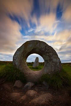 Men An Tol ancient standing stone - West Penwith Moor, Cornwall