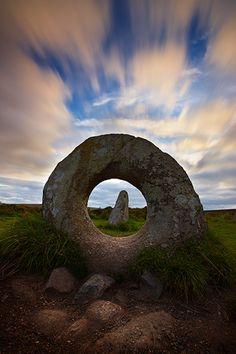 Men An Tol ancient standing stone - West Penwith Moor, Cornwall  polperrogallery.co.uk