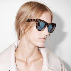 fwss hairway oversized sport-inspired cat-eye sunglasses tortoise