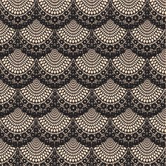 This would be a cool crochet pattern...Antique lace black