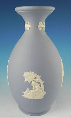I love my blue & white Wedgewood vase with the Grecian details.