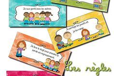 règles de vie illustrées Classroom Rules, Classroom Organization, Class Management, Classroom Management, Norman, Petite Section, Grande Section, Teaching Aids, Cycle 3