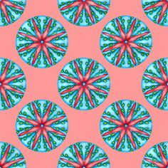 #Flower Mandala 1 fabric by eyespotdesigns on Spoonflower - custom fabric