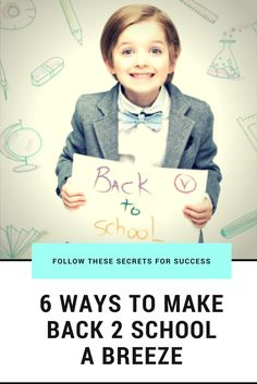 Follow these 6 simple steps to make Back-To-School a breeze. Setting priorities, preparation and quality time are just a few secrets for success. via @Toxfreeme
