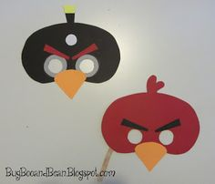Bug, Boo, and Bean: Angry Bird Masks + Printable