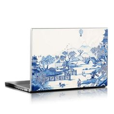 Laptop Skin - Blue Willow by Colin Thompson New Laptops, Laptop Skin, Vibrant, Artist, Artwork, Blue, Color, Design, Work Of Art