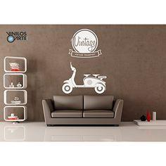Vinilo decorativo Moto vintage blanco - http://vivahogar.net/oferta/vinilo-decorativo-moto-vintage-blanco/ -