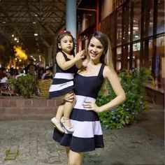 vestidos madre e hija modernos casuales cortos largos