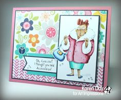 Art Impressions Rubber Stamps: Ai Girlfriends clear sets available at Hobby Lobby ... Dare to be Fabulous Set ... handmade card.