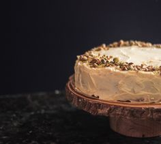 This Sicilian Pistachio Cake is covered in a rich frosting and is chalk full of chopped pistachios. I trust all Italian desserts.