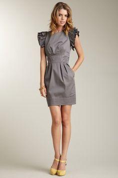 SUPER cute Jessica Simpson Ruffled Flutter Sleeve Dress