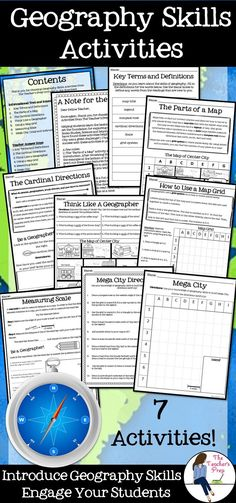 Introduce geography skills to your students with these fun, hands-on activities! #geography #socialstudies #teacherspayteachers #history #school #middleschool #elementaryschool