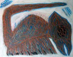 """Blattopo"" (Ibrido II) 2014 Tecnica mista su cartoncino 38x48  ©Pietro Gargano"