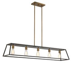 View the Hinkley Lighting 3335 5 Light 1 Tier Linear Chandelier from the Fulton Collection at LightingDirect.com.