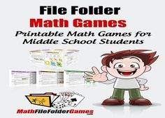http://www.teacherspayteachers.com/Product/MathFileFolderGames-42-Printable-Math-Games-for-Middle-School-Students Math File Folder Games are specifically designed for students in the 5th-8th grade!!! $12.97