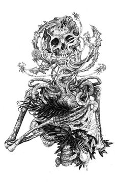 Skeleton, 2013. Pen & Ink.  By Mister Beaudry (Shaun)