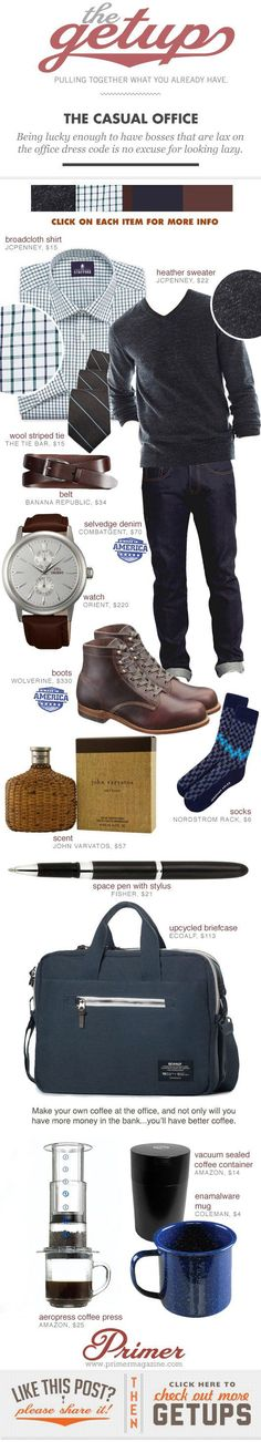Fall Getup Week: The Casual Office | Primer - small mens clothing, mens clothing online stores, trendy mens clothing
