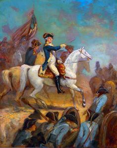 Portrait of George Washington on Horseback