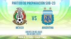 A qué hora juega México vs Argentina Sub 23 su partido amistoso previo a Rio 2016 - https://webadictos.com/2016/07/27/hora-mexico-vs-argentina-sub-23-amistoso/?utm_source=PN&utm_medium=Pinterest&utm_campaign=PN%2Bposts