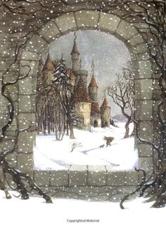 The Sleeping Beauty Trina Schart Hyman.Hyman was an American illustrator of children's books. She illustrated over 150 books, including fairy tales and Arthurian legends. Art And Illustration, Illustration Children, Book Illustrations, Fantasy Kunst, Fantasy Art, Fairytale Art, Winter Art, Faeries, Illustrators