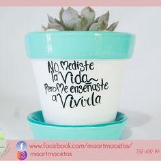 Painted Flower Pots, Painted Pots, Hand Painted, Mint Decor, Grandparents Day, Succulent Pots, Terracotta Pots, Backyard Patio, Ideas Para