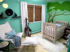 africa jungle baby room decorating