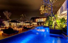 Mozaic Beach Club - The large deck, poolside bar and lounge, is perfectly located for a stunning sunset . Discover the best Restaurants in Seminyak, Bali, Indonesia - Overview Ubud, Bali Restaurant, Bali Travel Guide, Best Places To Travel, Beach Club, Tourism, Around The Worlds, Restaurants, Villas