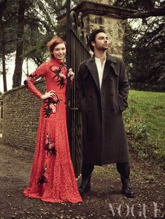 Eleanor Tomlinson and Aidan Turner: She told Vogue magazine she is not immune to the charms of Turner, whose shirtless appearance as Ross Poldark with a scythe was one of the most talked-about moments from the first series.