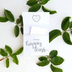 Customized For Your Happy Tears or For Tears of Joy Tissue Packs are the pretty and practical wedding favor for guests to use during your tear-worthy wedding ceremony. These adorable Happy Tears packs are made of high-quality kraft paper and can be personalized to go with your