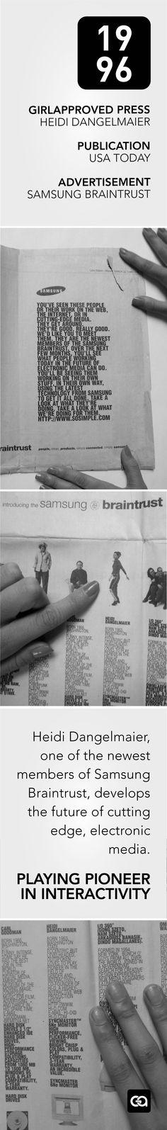 Heidi Dangelmaier in Samsung's Braintrust Ad