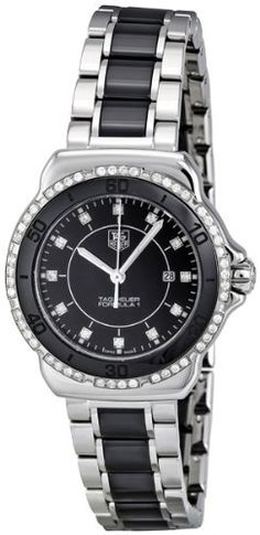 """TAG Heuer Women's WAH1312.BA0867 """"Formula 1"""" Stainless Steel Two-Tone Watch with Diamonds"""
