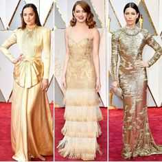 Девушки выбирают золото: яркие фото нарядов c церемонии Оскар-2017 (11)