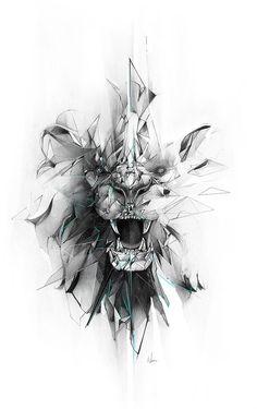 #lion #illustration #design #adobe #wacom #behance #wild #drawing #pencil #graphite #design: