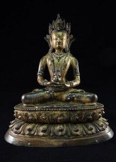 Gilt Bronze Figure Of Buddha