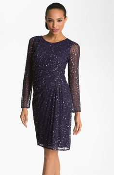 Patra Beaded Mesh Sheath Dress available at Nordstrom