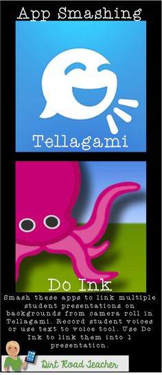 App smashing with Tellagami and Do Ink apps. Use Tellagami to allow a group to create 3 individual student presentations. Then use Do Ink to put the 3 videos together and have 1 group presentation! Everyone gets a part and creates 1 finished product.