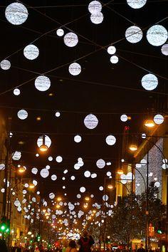 Oxford Street Christmas Lights and Xmas Decorations Oxford Street Christmas Lights, London, Britain - 12 Nov 2013  (Rex Features via AP Imag...
