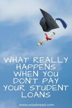 Thinking of avoiding your student loans? This is what actually happens to your student debt. Mad Money, Savings Planner, Term Life, What Really Happened, Managing Your Money, Finance Tips, Finance Blog, Student Loans, Debt