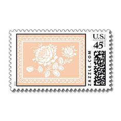 Our latest stamp design! Pastel Papel Picado stamp for a pastel modern Mexican wedding invitation.