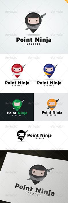 Point Ninja Logo  #GraphicRiver         This logo design for all creative business. Consulting, Excellent logo,simple and