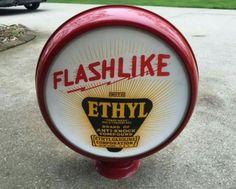 Humble Oil Co. Flashlike Ethyl Gas Globe