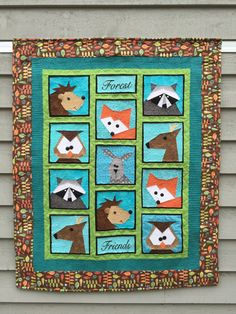 Forest Friends Paper Pieced Quilt/Table Runner