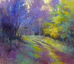 Barbara Newton Art Journal: Good News Pastel Landscape, Watercolor Landscape, Abstract Landscape, Landscape Paintings, Watercolor Paintings, Watercolour, Paintings I Love, Beautiful Paintings, Horse Paintings