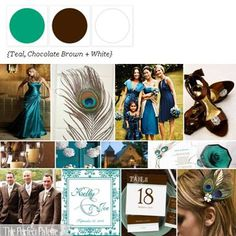 A Palette of Teal, Chocolate + White via the Perfect Palette xo