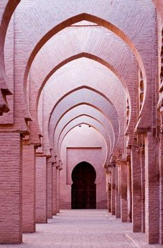 Pink arches in temple