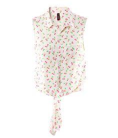 H & M Cherry Print Blouse. $17.95