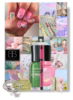 """""""Boho Betty"""" by cheyenne-muter ❤ liked on Polyvore featuring beauty, Sally Hansen, pastel, springcolors and bohobetty"""