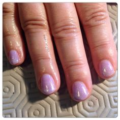 Lilac longing/romantique with silver VIP shellac nails.