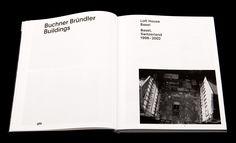 Buchner Bründler Bauten - Fonts In Use